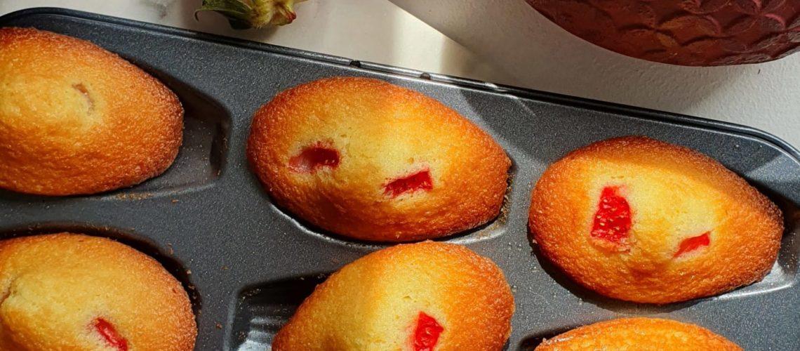 Madeleines fraises