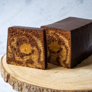 Cake marbré tranché